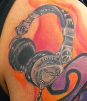 headphones detail by ODIETATTOO
