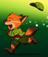 Zootopia - Little fox crying by doraemonbasil
