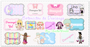 Pack Botoncitos de Descarga by AnitaEdiciones