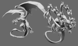 Dragons Sketch by Namh