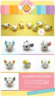 .Rainbow winged pig charms. by AllendisI