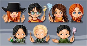Harry Potter charas - lunaii by meririm