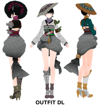 MMD Outfit DL by UnluckyCandyFox
