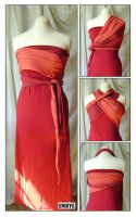 Robe rouge tranformable by Emillye