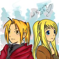 503: Ed and Winry by takada-san04
