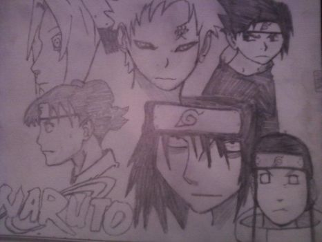 Naruto Collage by JayLeBear