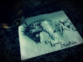 Smaug in napkin... by tulyo7