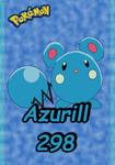 Pokemon Azurill 298 Karte by WallpaperZero