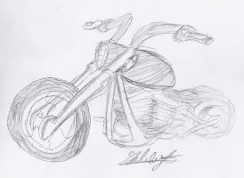 Motorcycle Sketch by Gabbyartisto3o