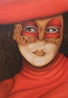 Venetian mask by AmzyBabes