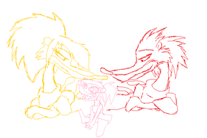 Psycho, Psycha, and Baby Parra by 200shadowfan