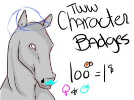 TWW Character Badges -Open- by nightstrikers