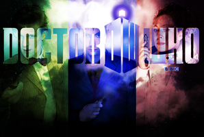 Doctor Who wallpaper: Sonics by BurningArtist
