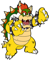 Nintendo vs Disney collab Bowser by Chibi-Tediz