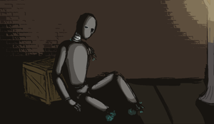 Broken Bot - Shadow Study by Capersaurus