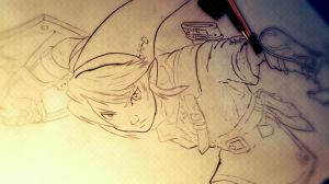 Drawing for girlfriend Link The Legend of Zelda by Lipe1112