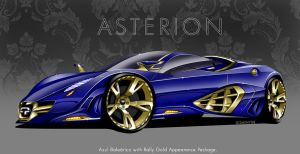 Quimera Asterion - Blue+Gold by MDominy