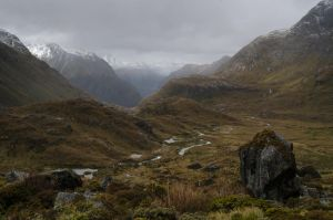 Cloudy Routeburn by acorwyn