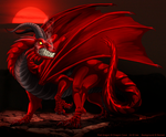 Red dragon by IsisMasshiro