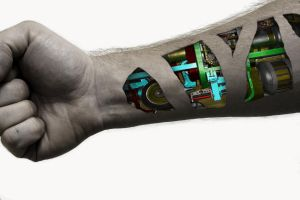 Cyborg Arm Colored by williamdaros