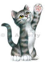 High Five Tabby Cat by bigcatdesigns