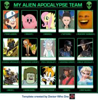 .:. My Alien Apocalypse Team .:. by Rise-Of-Majora
