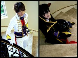 Code Geass: Cosplay duo by Akusesu