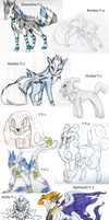 OLD 2007 Normal Pokemon Creations by KasaraWolf