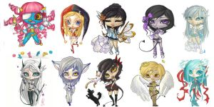 10 chibis by CantoChi
