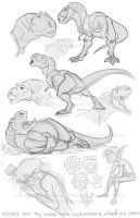 K'aloo and Yarek sketches by marimoreno