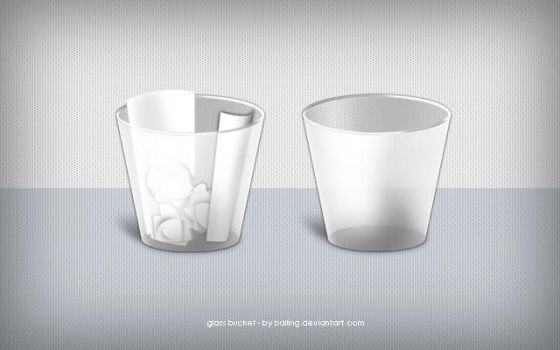 Glass bucket - trash icons by Balling