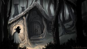 Once Upon A Time - Snow Discovers Dwarf's Cottage by becsketch