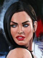 Megan Fox Portrait by PierluigiAbbondanza