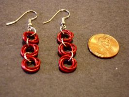 Flower Chain Earrings by gnomeofmaille