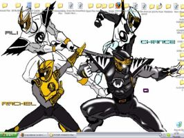 my Ninja Rangers desktop by crazydancer