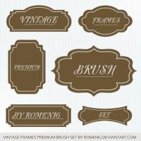 Premium Vintage Frames Brushes by Romenig