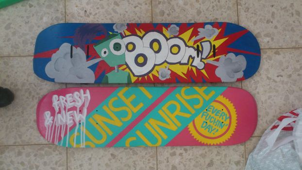 Skateboards Paintings by MorEliezri