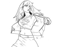 Supergirl by menace-ink