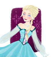 Elsa, again by chocolatesmoothie