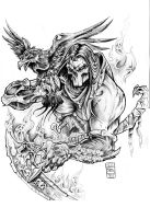 My vision of Death, from Darksiders 2 video game by Daxotattoos