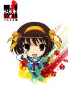Haruhi Suzumiya iphone wall by BlueImpulse06
