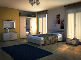 Blender Bedroom - Update2 by SlykDrako