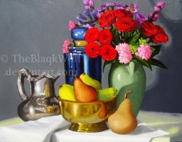 Still Life with Flowers by TheBlaqkWolf