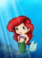 Chibi Princess  - Ariel by Mibu-no-ookami