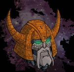 Colours on The Head of Unicron by Thomas Sjostrom by hellbat