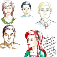Head drawing practice by Tankitha