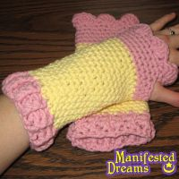 Fluttershy inspired arm warmers by ManifestedDreams