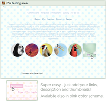 Custom box: Pastel profile + menu + thumbs (CSS) by UszatyArbuz