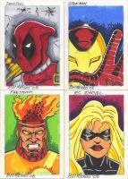 Sketch Cards to Fight cancer by billmeiggs