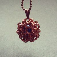 Chainmaille ball pendant by Pastely